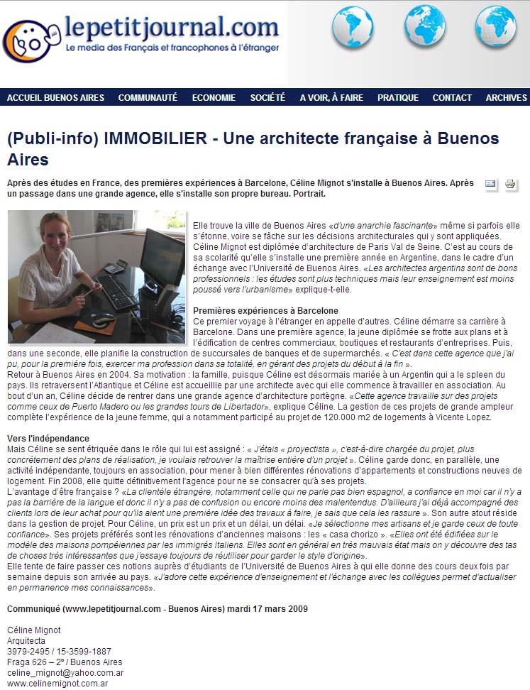 petit journal – marzo 2009